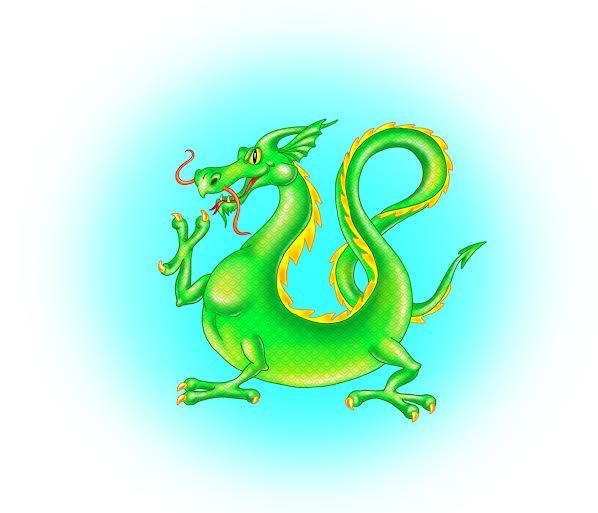 дракон, поднимающий лапу